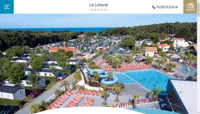 Site internet de Camping le Littoral