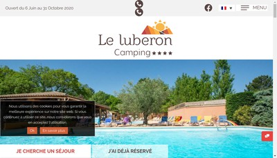 Site internet de Camping le Luberon