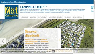 Site internet de Camping le Mat de Trevou