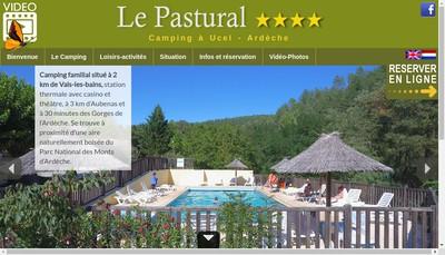 Site internet de Camping le Pastural