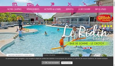 Site internet de Camping le Ridin