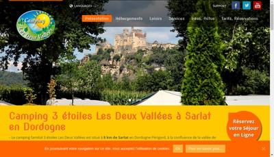 Site internet de Camping Dordogne 2 Vallees