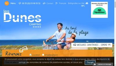 Site internet de Camping Caravaning les Dunes