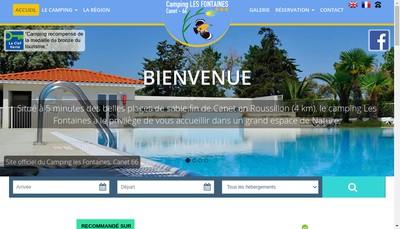 Site internet de Camping les Fontaines