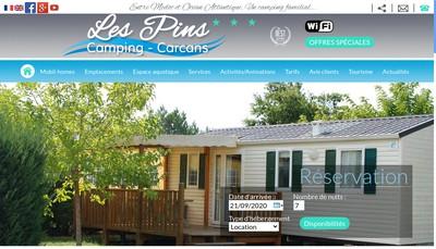 Site internet de Camping les Pins