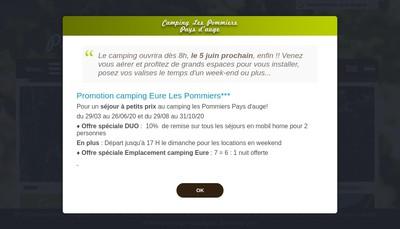 Site internet de Camping Les Pommiers