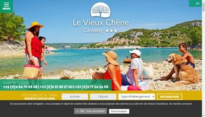 Site internet de Camping le Vieux Chene