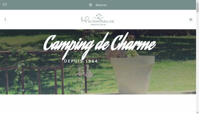Site internet de Camping Maisonneuve