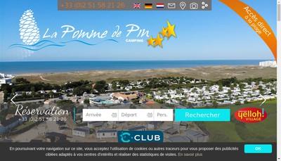 Site internet de Camping la Pomme de Pin