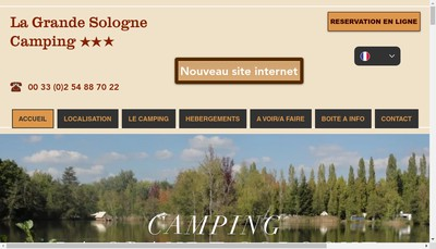 Site internet de Camping la Grande Sologne