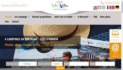 Site internet de Camping des Mielles
