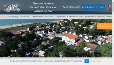 Site internet de Camping Sainte Anne