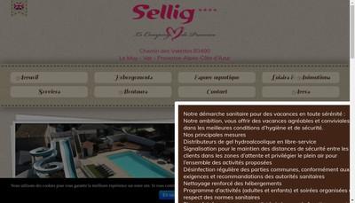 Site internet de Camping le Sellig