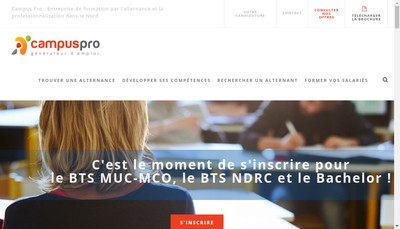 Site internet de Campus Pro
