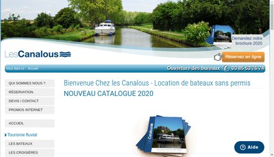Site internet de Canalous-Tourisme Fluvial-Navigation