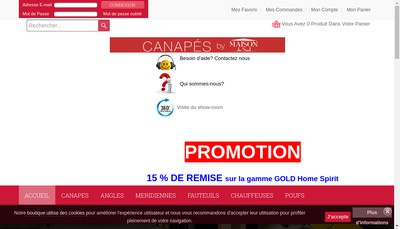 Site internet de Abm Commerce