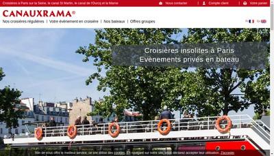 Site internet de Canauxrama