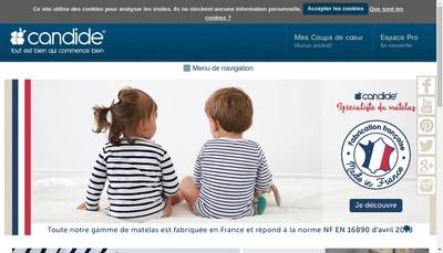 Site internet de Candide Baby Group