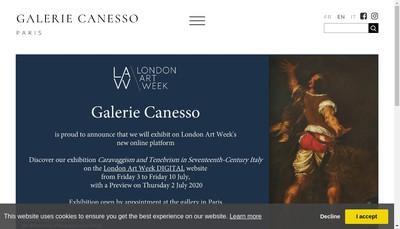 Site internet de Galerie Canesso