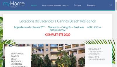 Site internet de Cannes Beach