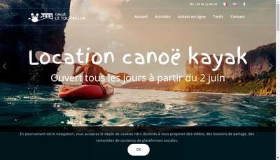 Site internet de Canoe le Tourbillon