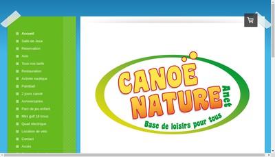 Site internet de Canoe Nature