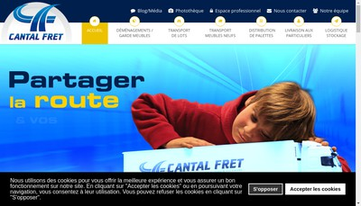 Site internet de Cantal Fret Participation