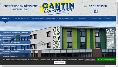Site internet de Cantin Construction