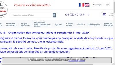 Site internet de Cap Maquettes