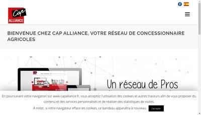 Site internet de Cap'Alliance