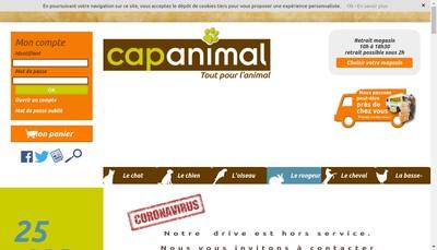 Site internet de Cap Animal