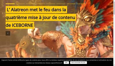 Site internet de Capcom Entertainment France SAS