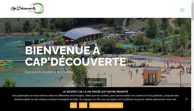 Site internet de Cap Decouverte