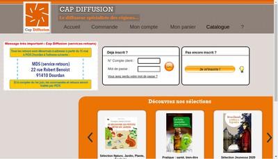 Site internet de Cap Diffusion