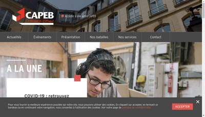 Site internet de Capeb Rhone Developpement