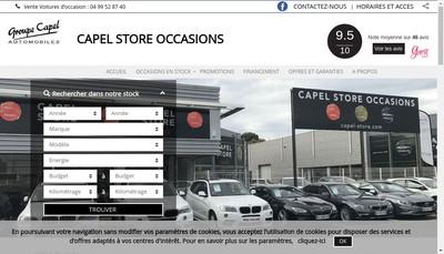 Site internet de Espace Mediterranee-Groupe Capel