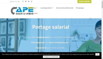 Site internet de Cape Services