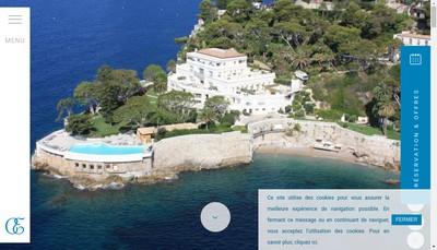 Site internet de Hotel du Cap Estel