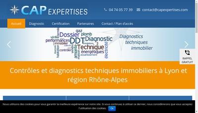 Site internet de Cap Expertises