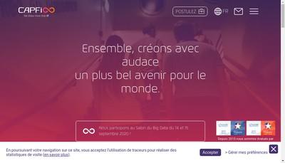 Site internet de Capfi 6Eme Sens