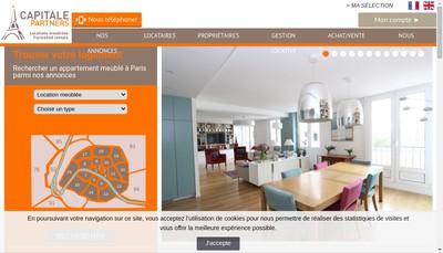 Site internet de Capitale Immo