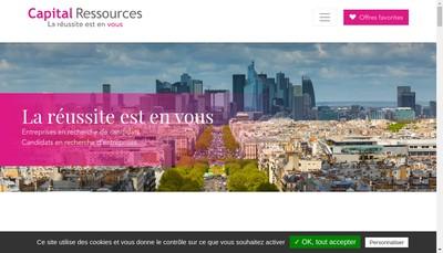 Site internet de Capital Ressources