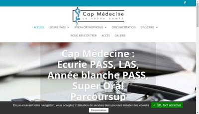 Site internet de Cap Medecine