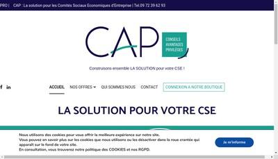Site internet de Cap Privileges