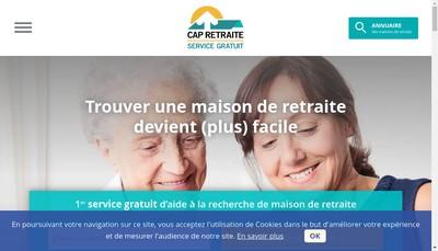 Site internet de Cap Retraite