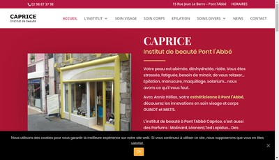 Site internet de Caprice