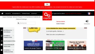 Site internet de Capron Podologie