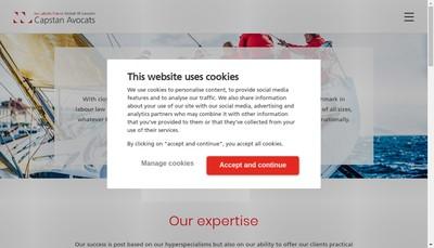Site internet de Capstan Ww