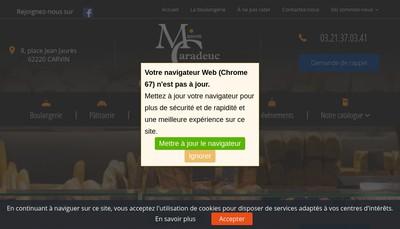 Site internet de Boulangerie Patisserie Caradeuc