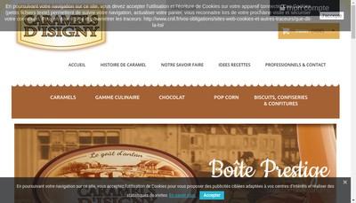 Site internet de Caramels d'Isigny